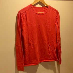 JCrew Garment Dyed Long Sleeve T Shirt Red Small